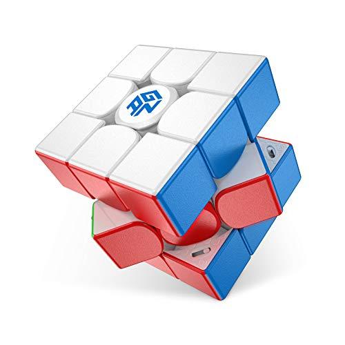 GAN 11 M Pro, 3x3 Cubo de Velocidad Magnético, Cubo Magico Juguete Rompecabezas Cubo Sin Pegatinas Superficie Esmerilada (Primario Interno)