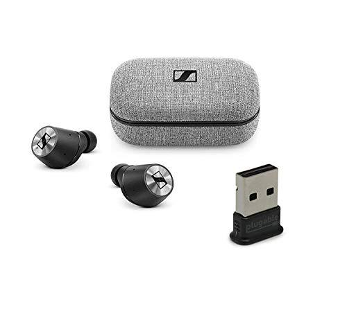 Sennheiser Momentum True Wireless Bluetooth Earbuds Bundle with USB-BT4LE USB 2.0 Bluetooth Adapter - Fingertip Touch Control