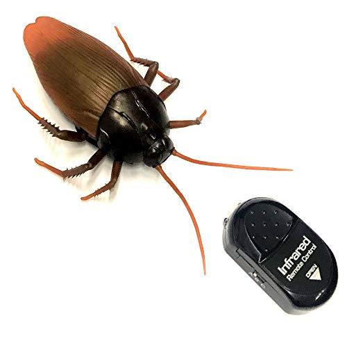 Eaxus Infrarot Spielzeug ferngesteuerte Riesen Kakerlake Inkl. IR Fernbedienung Täuschend Echt Elektrische Küchenschabe Unheimliches Insekt Batteriebetriebene Schabe