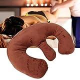 SALUTUYA Coussin de Coussin de Poitrine Coussin de Soin de Salon Coussin de Massage Spa pour Voyage pour Le ménage(Dark Brown)