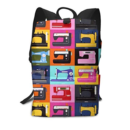 Sewing Machine Hard Anti-Scratch &Fingerprint Unisex Light and Durable Classic Travel School Backpack Fits 14 Inch Laptop