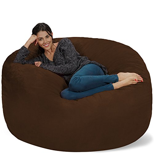 Chill Sack Bean Bag Chair: Giant 5' Memory Foam Furniture Bean Bag - Big Sofa with Soft Micro Fiber Cover - Chocolate