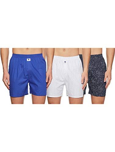 Amazon Brand - Symbol Men's Printed Boxers (Pack of 2) (Symdurbxpo2-26_Grey, Black-S)