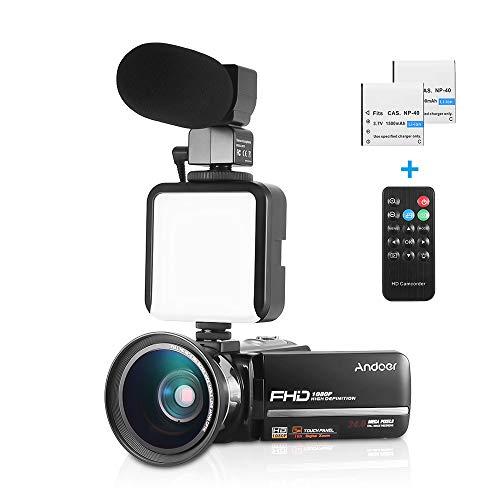 Andoer HDV-301LTRM 1080P FHD - Cámara de vídeo digital DV IR Nightshot...