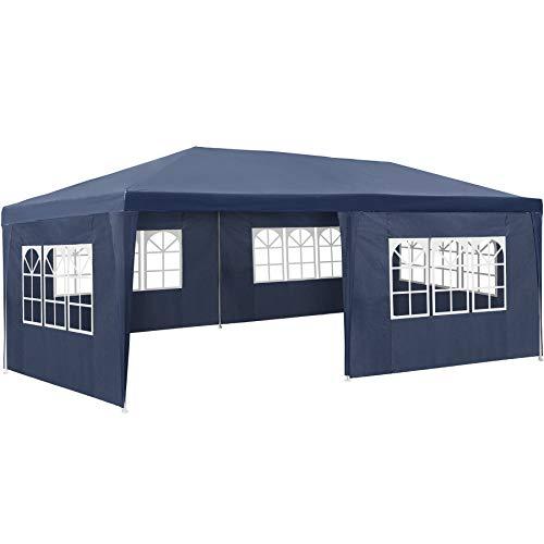 TecTake 800382 Tonnelle Tente Gazebo Pavillon de Jardin d événement pour Fête 3x6 m - diverses Couleurs - (Bleu | No. 402302)
