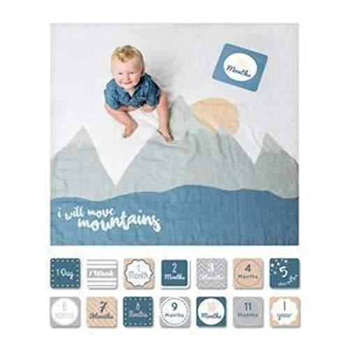 Bambino di Lulujo - Carte Milestone del Bambino e Set di Coperte - Io Sposta Montagne