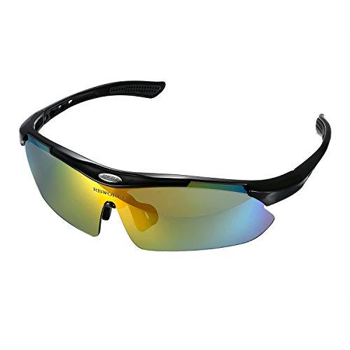 Aroncent - Occhiali da sole polarizzati, per uomo, donna, ciclismo, corsa, guida, pesca, golf, baseball