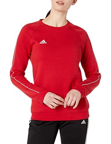 adidas Women's Core18 Sweater, Power Red/White, Medium