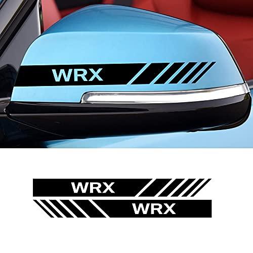 MLHH 2 unids/Set Pegatina de Espejo retrovisor de Coche Cubierta de calcomanía de Vista Trasera Raya Lateral decoración de Estilo de carrocería Accesorios Subaru WRX