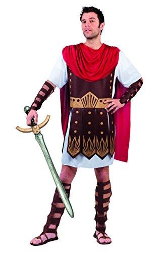 Boland 83806 - Erwachsenenkostüm Gladiator, Größe M/L, Tunika mit Rüstung, Umhang, Armschützer und Beinschützer, Römer, Gallier, Motto Party, Karneval