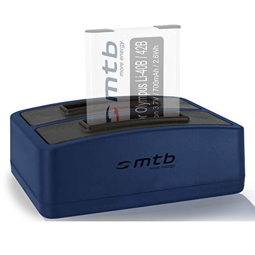 Dual-Ladegerät (USB) für Olympus Li-40B/42B, FE-, mju, µ, TG, VG, VR, X.s. Liste