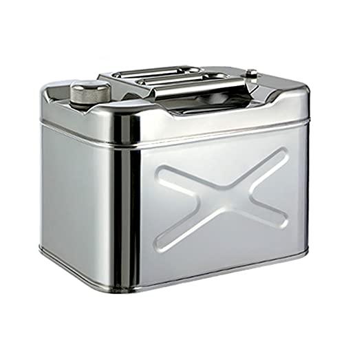 LIYANLCX Tanque de Combustible de Gasolina de 20L de Respaldo de Emergencia de Acero Inoxidable de 1 mm de Espesor con Pico para Almacenamiento de Combustible contenedor de Aceite Diesel de Gasolina