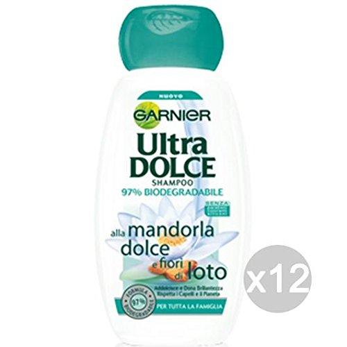 Set 12 GARNIER Ultra Dolce Shampoo Mandorla Dolce/Fiore Loto Cura Dei Capelli