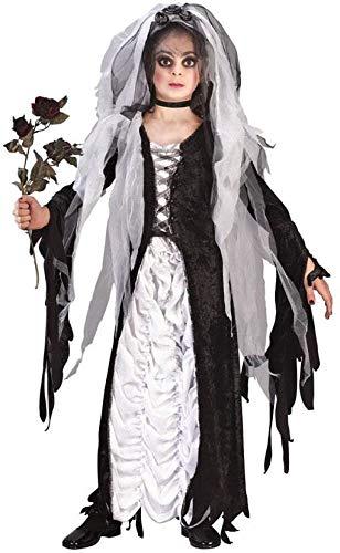 Horror-Shop Costume de la mariée de l'obscurité des Enfants M