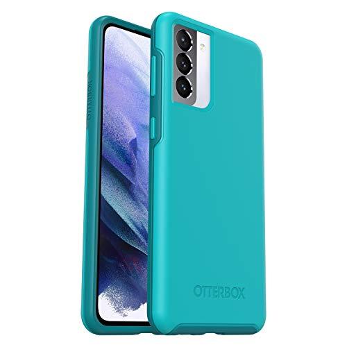 OtterBox Custodia Serie Symmetry Protezione Sottile, Anti-Caduta e Minimalista per Samsung Galaxy S21+, Blu