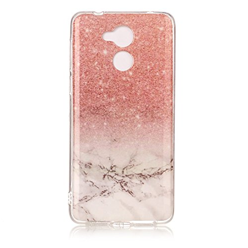 Pheant Handyhülle für Huawei Honor 6C Schutzhülle Silikon Hülle Transparent Stoßfänger Bumper Marmor Muster