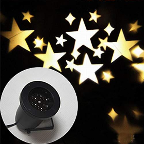 Lámpara de proyector de Estrella giratoria romántica Cuento de Hadas Estrellado Interior Interior Exterior casa jardín jardín decoración proyector