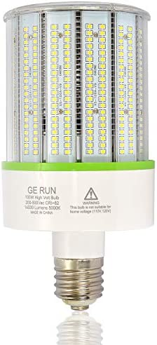 480V 347V LED Corn Cob Light Bulb 100W E39 Mogul Base Led Bulbs 14000LM 5000K Daylight Lamp product image