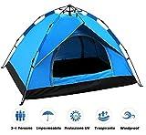 Yuanj Zelt 3/4 Personen, Wurfzelt Zweischichtiges Kuppelzelt, Ultraleichte Camping Zelt,...