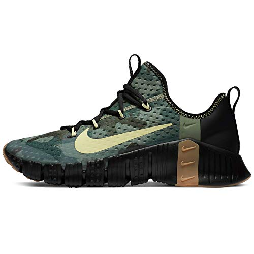 Nike Free Metcon 3, Zapatillas de fútbol Unisex Adulto, Black Limelight Spiral Sage Gum Med Brown Black, 47 EU