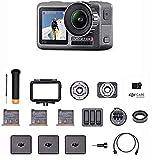 DJI Osmo Action Prime Combo - Cámara Digital, Kit de Accesorios y Care Refresh, 12MP 1/2.3 pulgadas CMOS, Dos Pantallas, Impermeable hasta 11 m, Estabilización Integrada, Foto y Video en 4K HDR, Negro