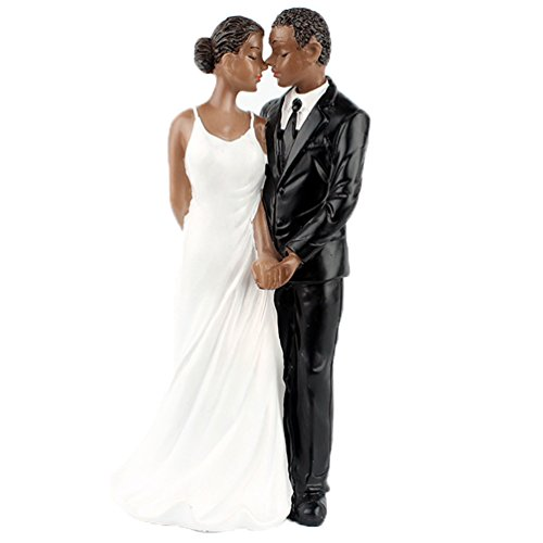 Yepmax Wedding Cake Toppers African American Wedding Figurine This Moment 6x3x2.3