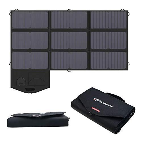 ALLPOWERS 60W Faltbares Solarpanel mit 18V DC Ausgang für Tragbaren Generator, Laptops, 12V Auto Boot RV Batterie, SunPower Solar Ladegerät für Smartphone