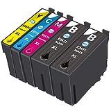 NTT 5 XL Druckerpatronen als Ersatz für Epson 34XL 34 Tintenpatronen kompatibel mit Epson Workforce Pro WF-3720DWF WF-3725DWF WF-3720 WF-3725