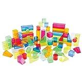 Joyn Toys Transparent Light and Color Blocks - 108 Pieces