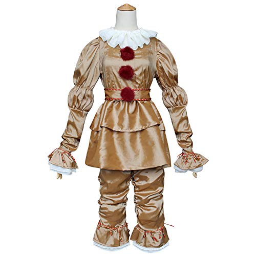 Xwenx Traje de cosplay para mujer, vestido de Halloween, cosplay, disfraz de anime, cosplay, disfraz medieval de talla grande, disfraz de Halloween, dorado, XL