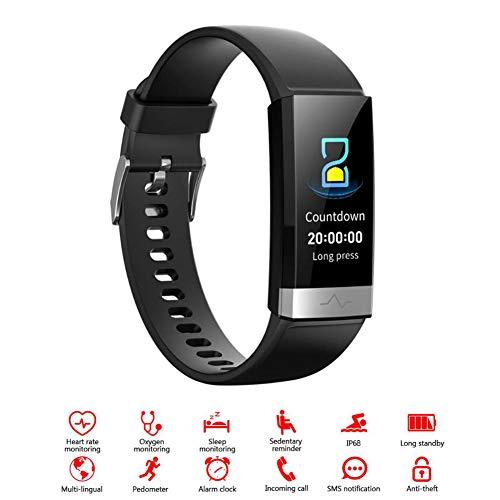 WYXIN Pulsera Inteligente HR ECG + PPG, rastreador de Actividad física con Monitor de frecuencia cardíaca Dual, Monitor de sueño de presión Arterial y oxígeno en Sangre HRV SpO2 IP68 a Prueba de Agua