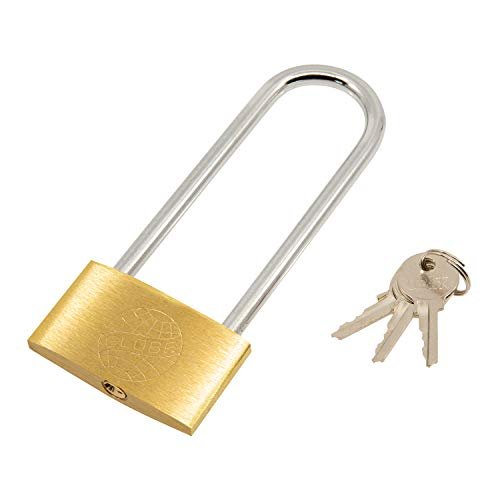 TRIXES Extra Long Shackle Padlock 120mm Long Lock 3 Keys safe for Garage – Garden Gate – Bike Shed – Cupboard Locks -Heavy Duty Outdoor Padlock – Shed Lock