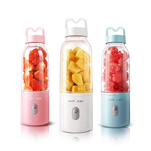zyl Mixer and Food Processor, 400ml Personal Blender Blender, Fruit Blender with Six Blades, USB Rechargeable Personal Blender