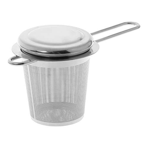 Youliy Infuseur à thé réutilisable en maille en acier inoxydable avec couvercle tasses et accessoires de cuisine