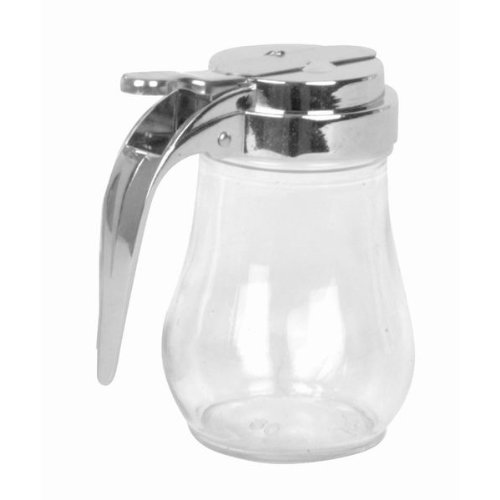 AmGood Glass Syrup Dispenser with Cast Zinc Top (1, 6 oz)