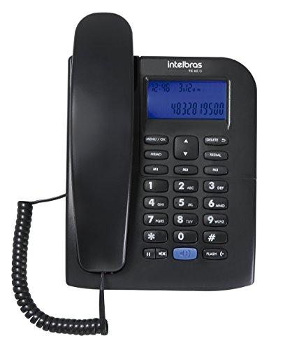 Telefone com Fio, Intelbras, TC 60 ID, Preto