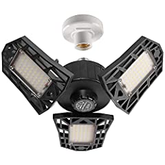 ★Please make sure Sold by GHUSTAR, NOT other BRAND from this page! More Features★【Super Bright Garage Light】With 3 ultra-bright adjustable LED light Panels, The world's leading LED technology with 144 Pcs top quality chips that total 6000 lumens , 65...