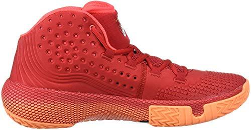 Under Armour Herren Ua HOVR Havoc 2 Basketballschuhe, Rot (Red/Glow Orange/Black/600), 48 EU