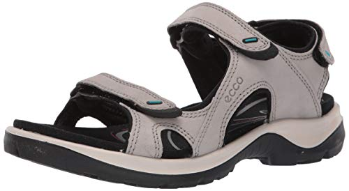 Price comparison product image ECCO Women's Offroad 3 Strap Sandal Sport,  Moon Rock Yak Nubuck,  4-4.5