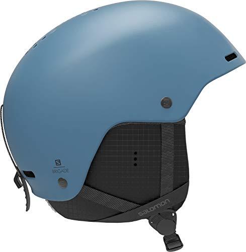 Salomon Herren Ski- und Snowboardhelm, ABS-Schale, EPS 4D-Innenschaum, Größe XL, Kopfumfang 62-64 cm, Brigade, blau (Smoke Blue), L40835900