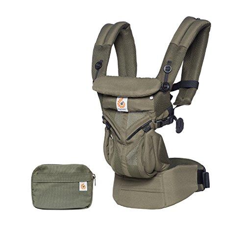 Ergobaby Sac à dos ergonomique Omni 360 Cool Air Mesh 4 positions de portage (Vert kaki)