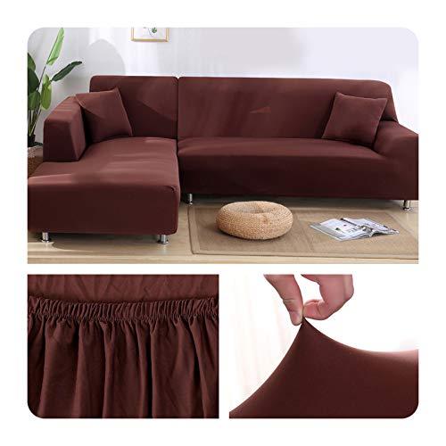 ZaHome Funda elástica de sofá para sala de estar, esquina en U, funda de sofá todo incluido, fundas de sofá en forma de L necesitan comprar 2 piezas - 015-1 plaza (90-140 cm)
