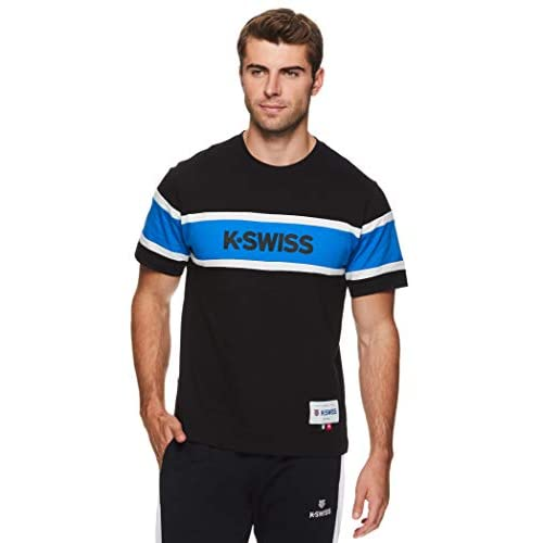 K-Swiss Men's Graphic Workout T Shirt – Short Sleeve Gym & Training Athleisure Tee