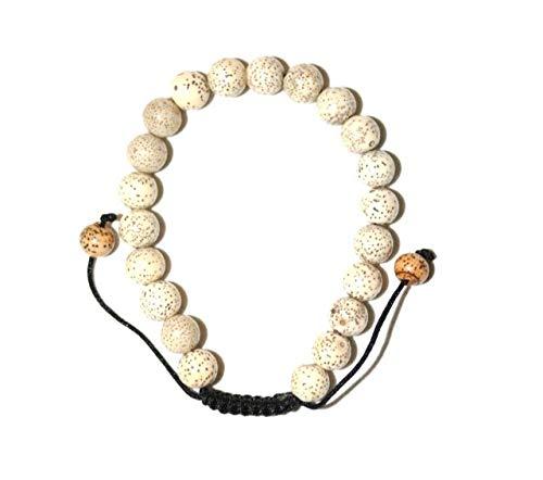 BUDDHAFIGUREN/Billy Held Armband mit Lotussamen - buddhistisches Armband mit 10 mm Perlen