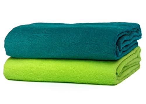 Farbige, bunte Baby Moltontücher - (Frühling, 2er Pack, 70x80 cm) | 100% Baumwolle, extra dick | Spucktücher, Flanelltücher, Flanellwindeln
