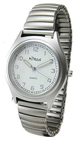 Mitron Unisex-Zugarmbanduhr 63475 silber Quarz Analog