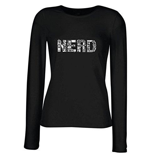 lepni.me Camisetas de Manga Larga para Mujer Nerd - Programa