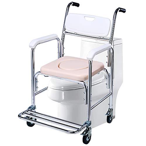 Inodoro médico de la Ducha, Silla cómoda con Ruedas, con protección antimicrobiana, para Personas con discapacidad, Ancianos, Mujeres Embarazadas