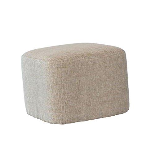 FLAMEER Hockerbezug quadratisch Stuhlhussen Stuhlbezug elastisch Sitzkissen Bezug Hülle - Hellgrau