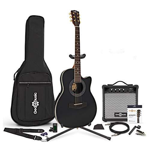 Guitare Électro-Acoustique Roundback Black + Pack Complet